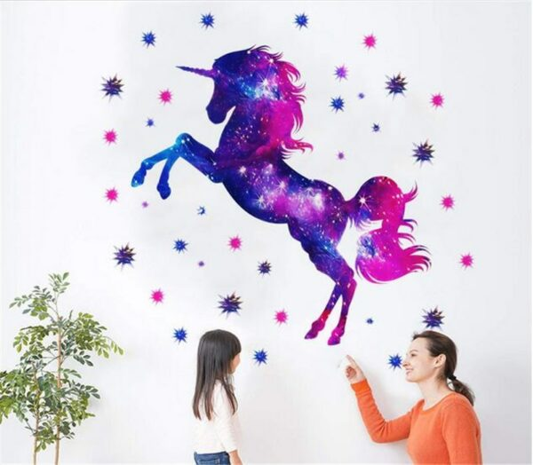 Golden dot unicorn wall sticker living room bedroom wall decoration wall stickers for kids rooms 50