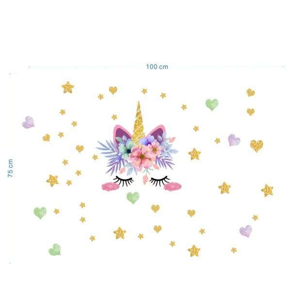 Golden dot unicorn wall sticker living room bedroom wall decoration wall stickers for kids rooms 28