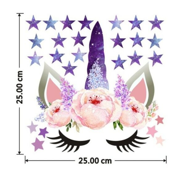 Golden dot unicorn wall sticker living room bedroom wall decoration wall stickers for kids rooms 31