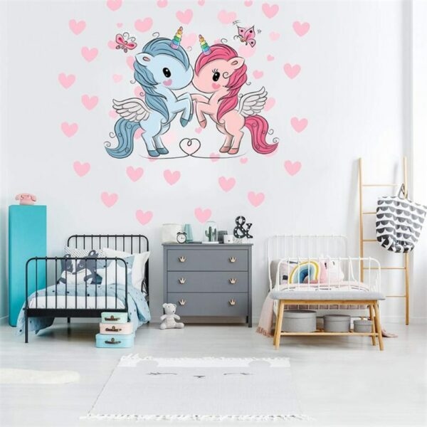 Golden dot unicorn wall sticker living room bedroom wall decoration wall stickers for kids rooms 60