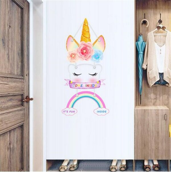 Golden dot unicorn wall sticker living room bedroom wall decoration wall stickers for kids rooms 38