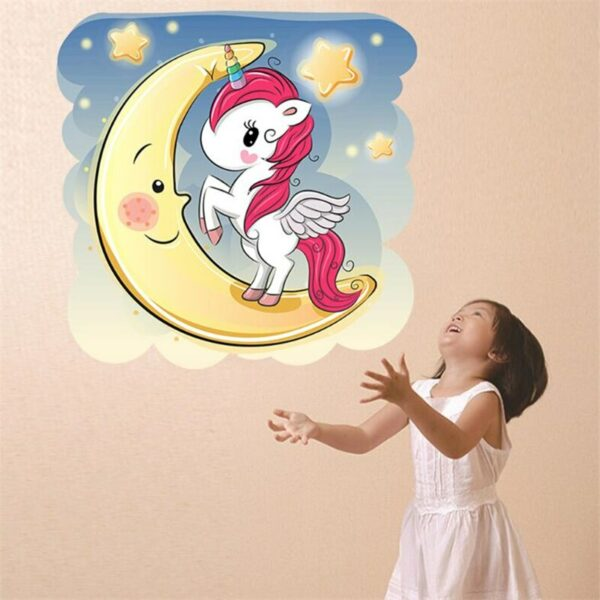 Golden dot unicorn wall sticker living room bedroom wall decoration wall stickers for kids rooms 20