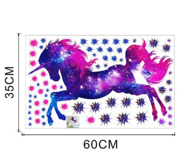 Golden dot unicorn wall sticker living room bedroom wall decoration wall stickers for kids rooms 52