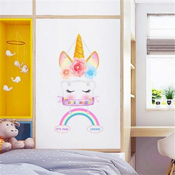 Golden dot unicorn wall sticker living room bedroom wall decoration wall stickers for kids rooms 11