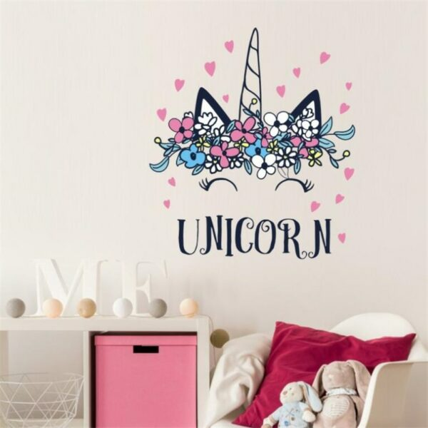Golden dot unicorn wall sticker living room bedroom wall decoration wall stickers for kids rooms 21