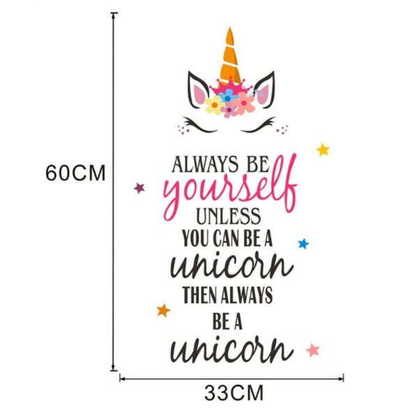 Golden dot unicorn wall sticker living room bedroom wall decoration wall stickers for kids rooms 69