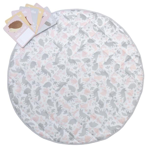 Lolli Living-3024895-Round Play Mat - Forest-Friends-1