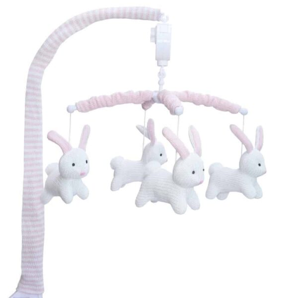 Living Textiles 4242905 Musical Cot Mobile Bunny 1