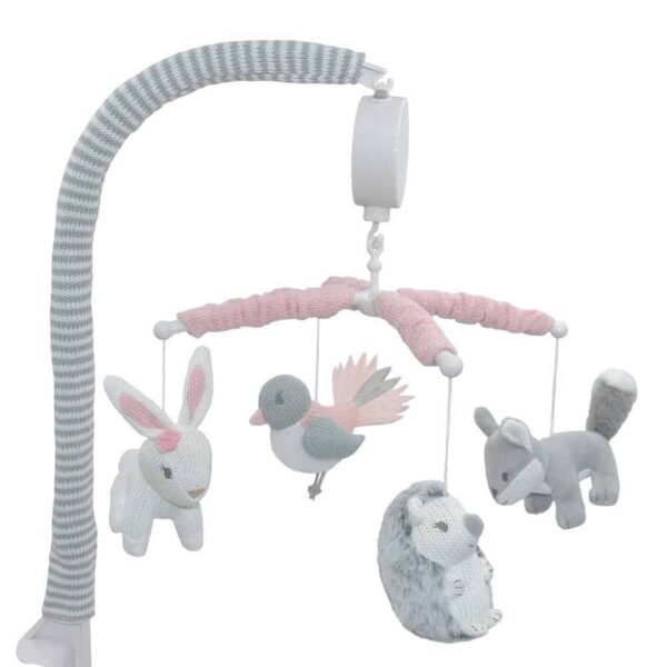 Lolli Living 4242976 Musical Cot Mobile Forest Friends 0
