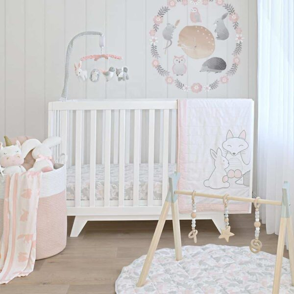 Lolli Living 4242976 Musical Cot Mobile Forest Friends 2