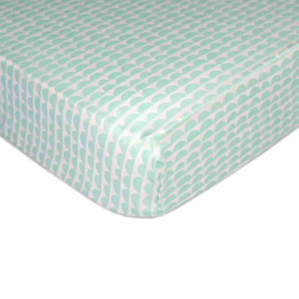 Lolli Living 9110855 Fitted Sheet Mint Scallops 0