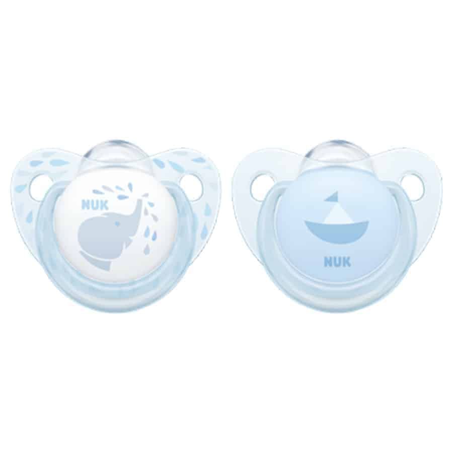 Nuk-baby-rose-blue-silicone-soother-blue