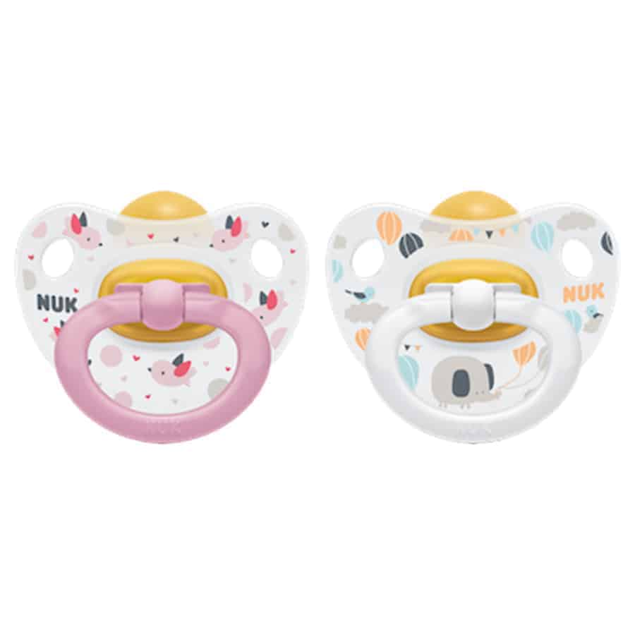 Nuk-happy-kids-latex-soother-pink