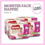 'Monster Box' Huggies® Nappies Walker Girl 13-18kg 128s-0