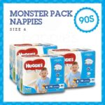 'Monster Box' Huggies® Nappies Junior Boy 16kg+ 90s 0