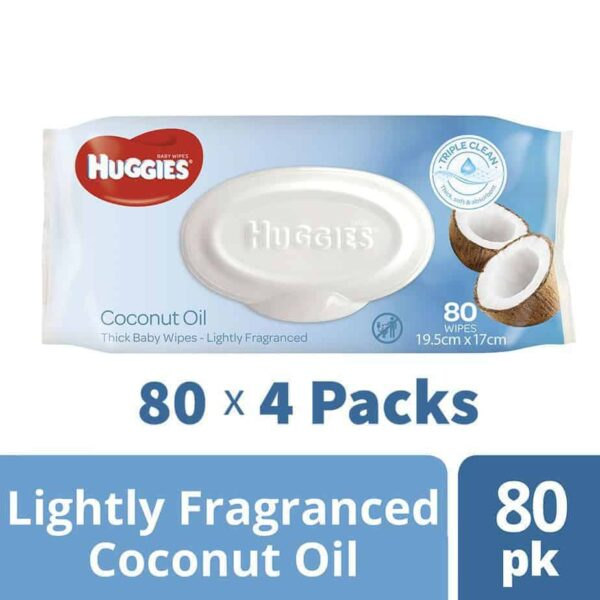 Huggies® Baby Wipes Coconut Oil 80s - Shipper Deal-0