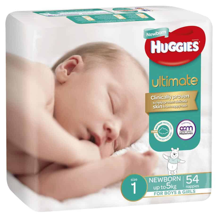 'Monster Box' Huggies® Ultimate Nappies Newborn 0-5kg 216s-8440