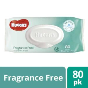 Huggies® Baby Wipes Fragrance Free 80s - Shipper Deal-0