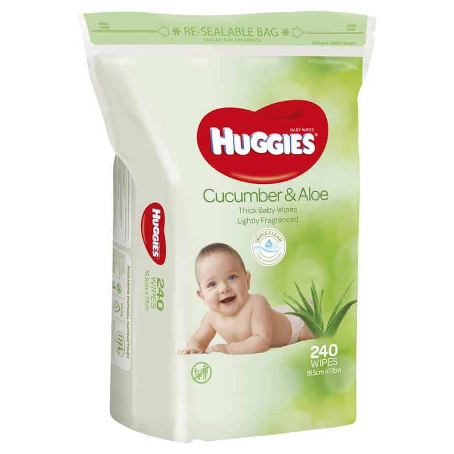 Huggies® Baby Wipes Cucumber & Aloe Jumbo 240s-0