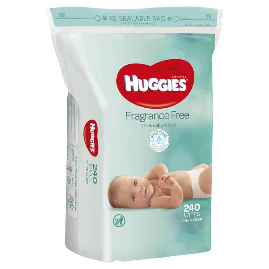 Huggies® Baby Wipes Fragrance Free Jumbo 240s-0