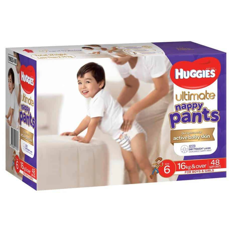 Huggies Ultimate Nappy Pants - Size 6 (Junior 16+kg) - Unisex - Jumbo Box - 48s-7740