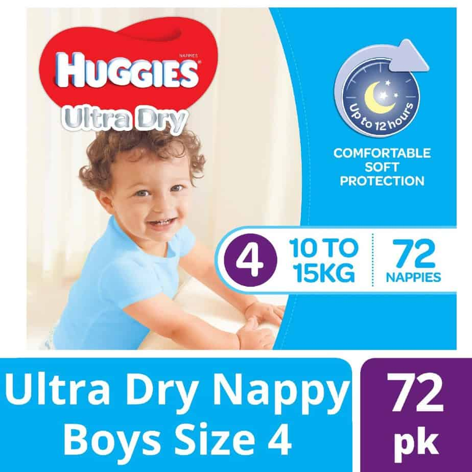 Huggies® Nappies Toddler Boy 10-15kg Jumbo 72s-11101