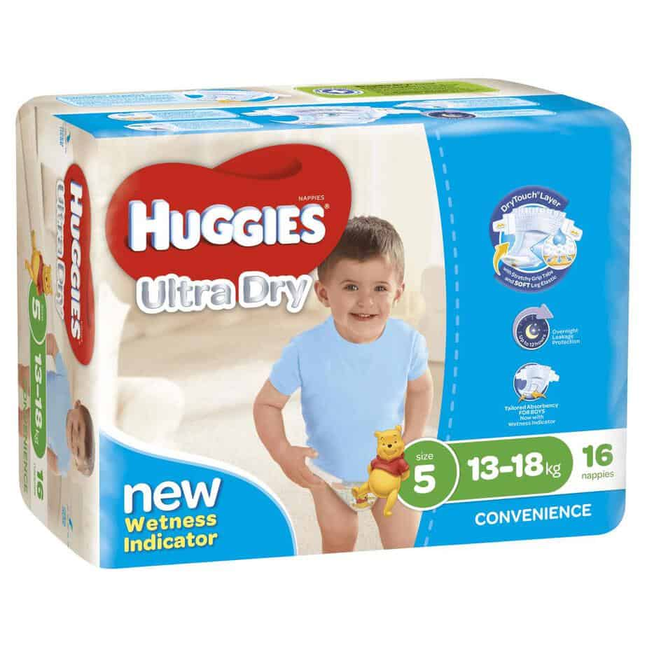 Pixie Box' Huggies® Nappies Walker Boy 13-18kg 64s-10820