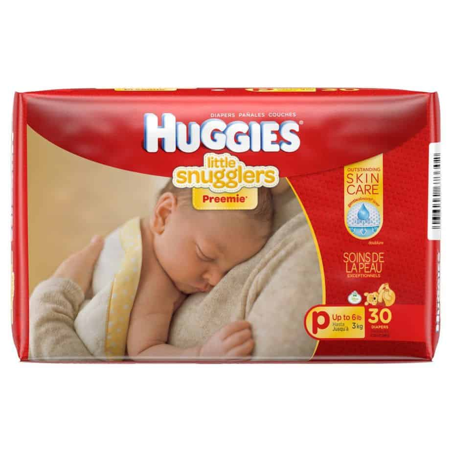 Huggies Nappies Little Snugglers Preemies (up to 3kg) 30s-0