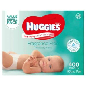 Huggies Baby Wipes Fragrance Free Mega 400s-0