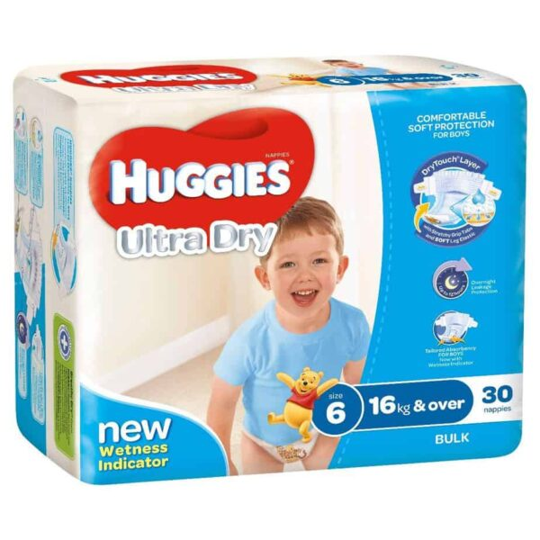 'Monster Box' Huggies® Nappies Junior Boy 16kg+ 90s-11053
