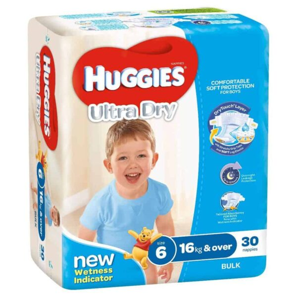 'Monster Box' Huggies® Nappies Junior Boy 16kg+ 90s-11054