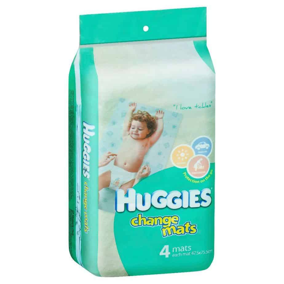 Huggies Disposable Change Mats 4s-0