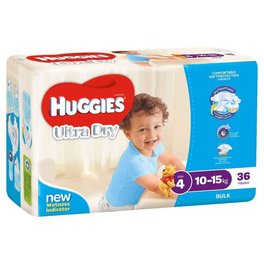 'Monster Box' Huggies® Nappies Toddler Boy 10-15kg 144s-11016