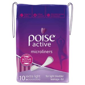 Poise Active Micro Liners Extra Light 10s-1993