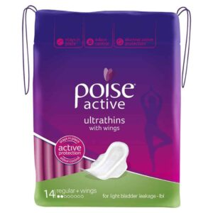 Poise Active Pads Ultrathins Regular with Wings 14pk-1998