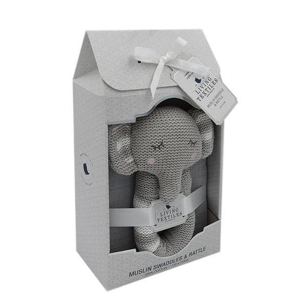 Theodore-the-elephant-muslin-and-rattle-in-packaing-grande